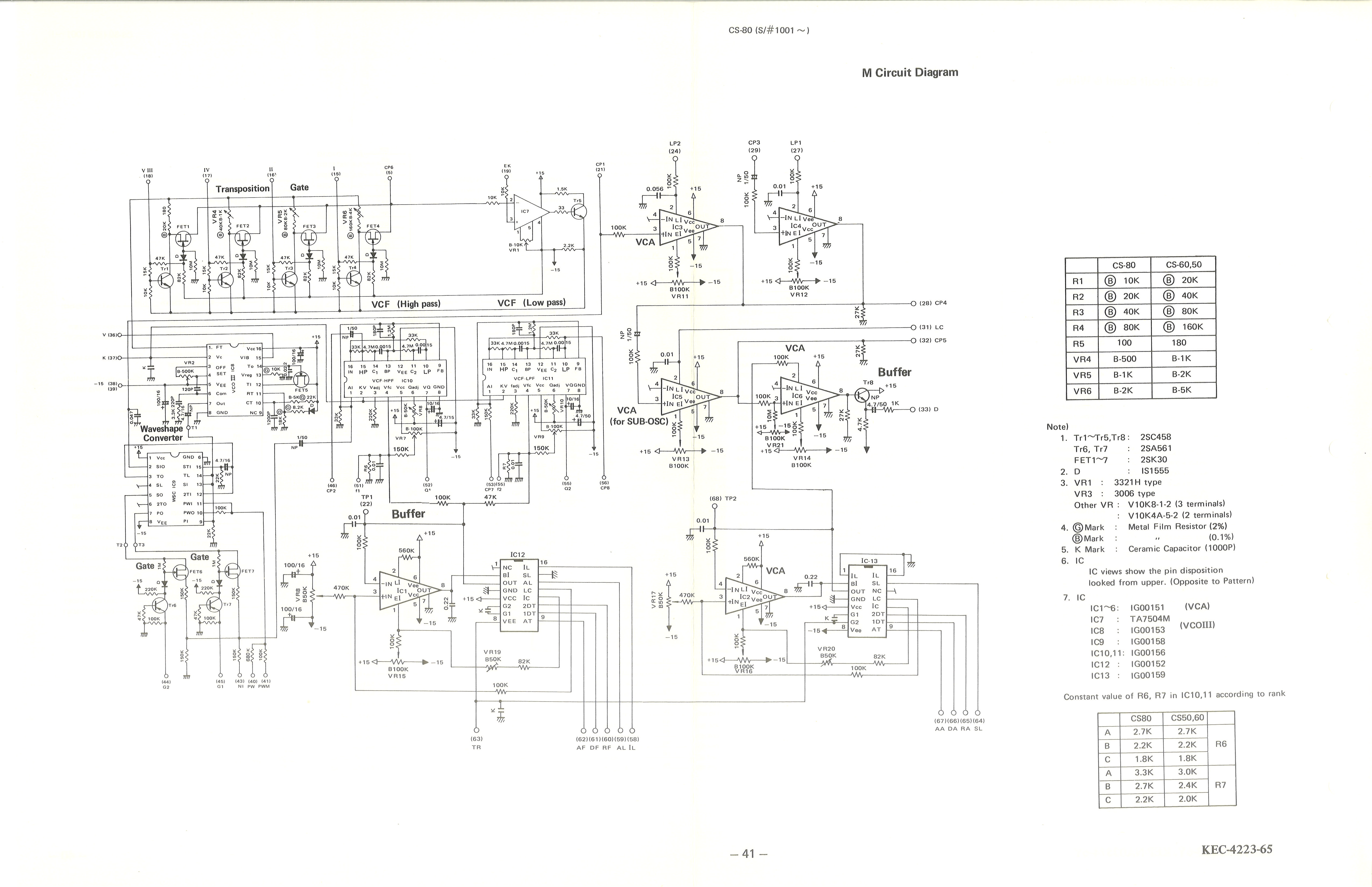 41 M Circuit Diagram yamaha cs 80 service manual yamaha schematic diagram at nearapp.co